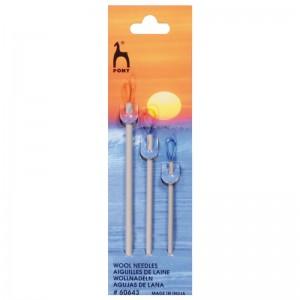 Aguja Lana Aluminio 60643 pack 5 blister 3 agujas