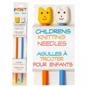 Agujas Tricotar Infantiles - Pack 5 pares