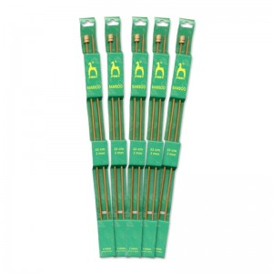 Aguja tricotar bamboo Pony nº2 33cm pack 5 pares