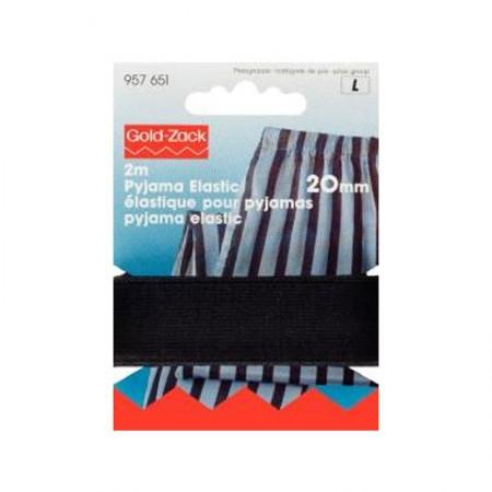 Goma pijamas negra 20mm 957651
