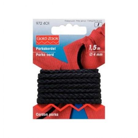 Cordón Trenzado 4mm Negro 972401