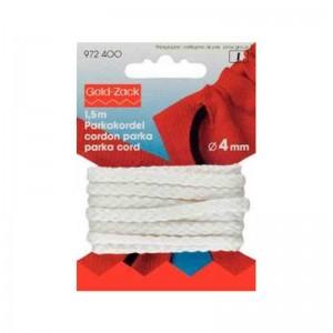 Cordón trenzado blanco 4mm 972400