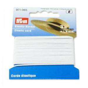 Cordón elástico 1,5mm blanco 971065