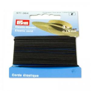 Cordón elástico 1,5mm negro 971064