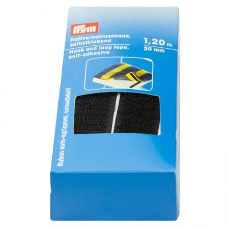 Cinta Autocierre adhesivo negro