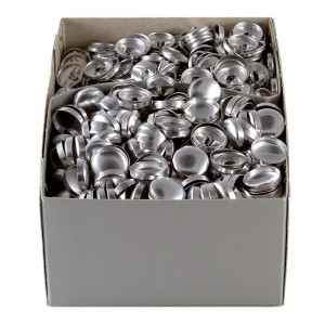 Botones bombé dorso metal para forrar