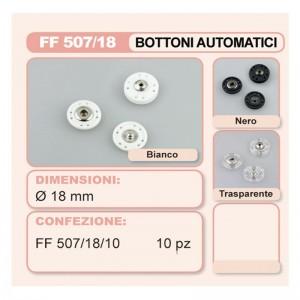 Automático Botón Plástico 18 mm Pack 10 Pares
