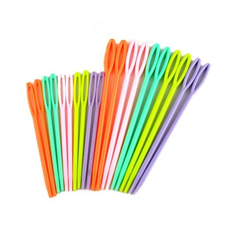 Agujas Laneras de Plástico Surtido Para Niños