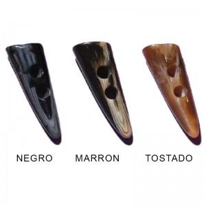 Botón Trenka Cuerno Negro Pack 24