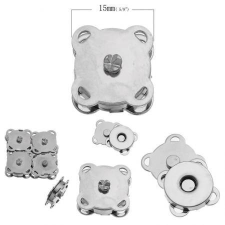 Broche Magnético 15 mm x 15 mm 10 Pares