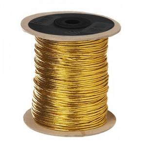 Cordón Elástico Oro y Plata 100 Metros
