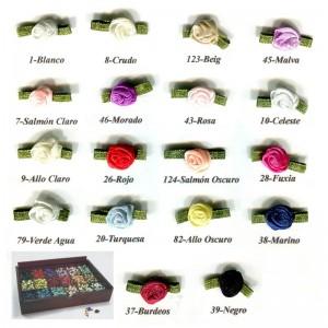 Flores de Raso Pequeñas 9 mm Pack 100 Unidades