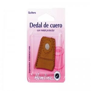 Dedal Cuero Con Protector Metal ER225 Pack 5 Unids