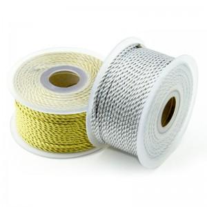 Cordón Metalizado Oro y Plata 1 mm 100 Metros