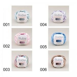 Ovillo Rubi Natural Batik 50 Gramos Pack 6