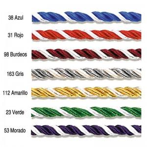 Cordón Seda Bicolor 5,5 mm 25 Metros