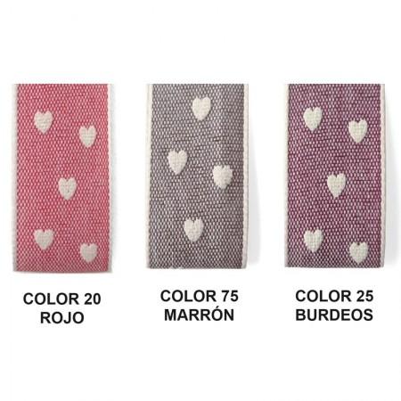 Cinta Tweed Corazones 1326 15 metros