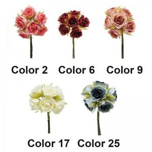 Ramillete 6 Flores Tela Pack 10