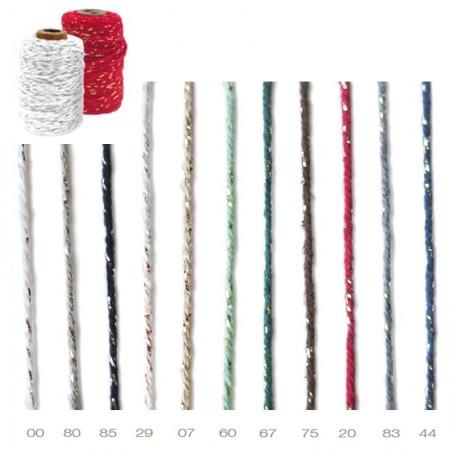 Cordon 1050 Cotton Lurex 2mm 50 metros pack 6