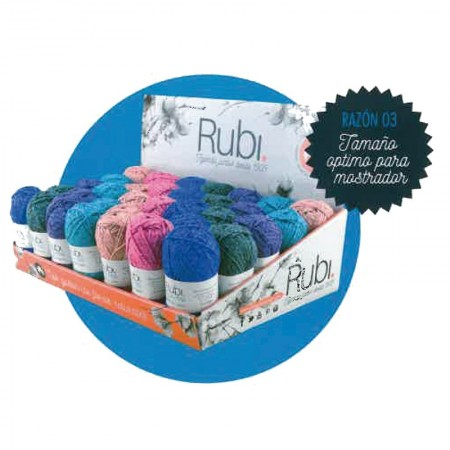 Expositor Ovillo Rubi Lino Roll Pack 28