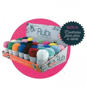 EXPOSITOR OVILLO RUBI HANDY COTTON 50GRM PACK 28