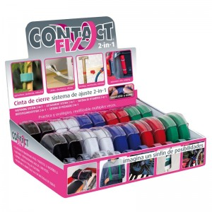 EXPOSITOR 20 CINTAS DE CIERRE CONTACT FIX 6060