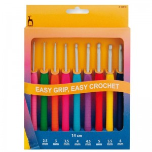 GANCHILLOS MULTITALLA EASY GRIP 56810 14CM PACK 9