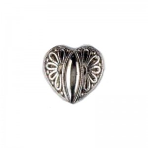 BOTON DILL CORAZON PLATA 20mm PACK 20