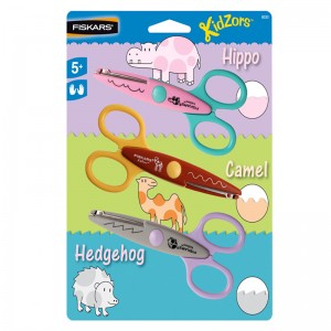 TIJERAS INFANTIL ZOO ART 8233 PACK 3